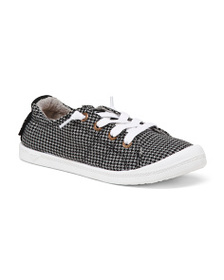 ROXY Gingham Canvas Sneakers