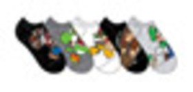 Super Mario Bros Characters Socks 5 Pack for Colle