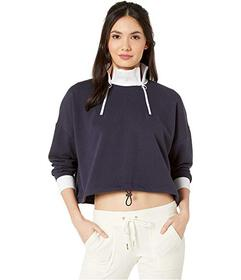 Juicy Couture Double Zip Crop Pullover