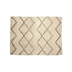 Crate Barrel Diamond Grid Rug