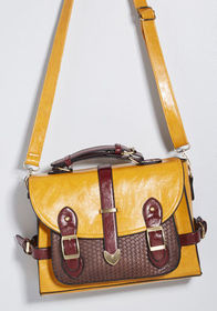 Authentically Academic Bag in Mustard Mustard