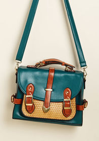 Authentically Academic Bag in Teal Teal
