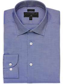James Tattersall Kings Cross Blue Woven Slim Fit D