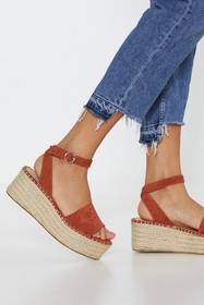 Nasty Gal Womens Spice Raise the Stakes Woven Plat