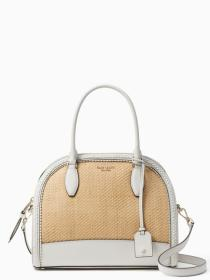 reiley straw large dome satchel