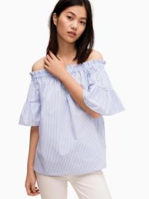 broome street stripe off the shoulder top