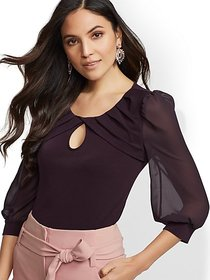 Pleated Crisscross Blouse - 7th Avenue - New York