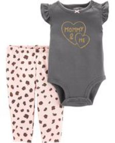 carters Baby Girl 2-Piece Mommy & Me Bodysuit Pant