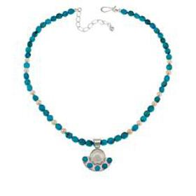 Jay King Cultured Mabé Pearl and Turquoise Pendant
