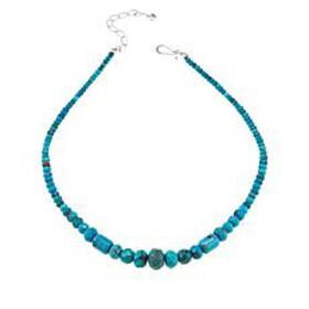 Jay King Sterling Silver Turquoise Faceted Beaded
