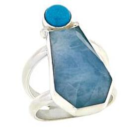 Jay King Sterling Silver Turquoise and Aquamarine