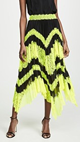 alice + olivia Katz Sunburst Pleated Insert Midi S