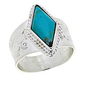 Jay King Andean Blue Turquoise Sterling Silver Rin