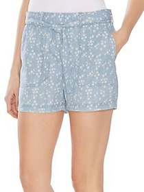 Vince Camuto Oasis Bloom Tie Waist Floral Shorts I