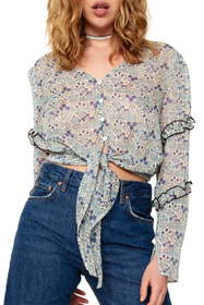 The East Order Serena Tie Front Blouse