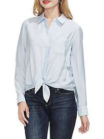 Vince Camuto Flowy Rumple Tie Front Top LAKE BREEZ