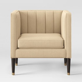 Soriano Channel Tufted Chair Linen - Project 62&#1