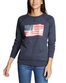 Women's Camp Fleece Pullover Crew - USA
