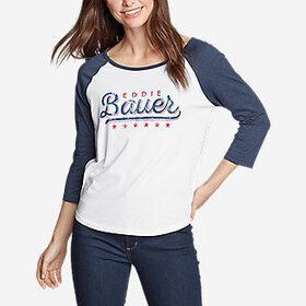 Women's Americana 3/4-Sleeve Baseball T-Shirt