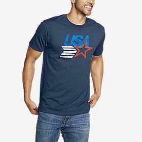 Men's Graphic T-Shirt - USA Star