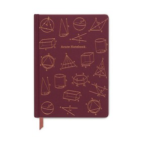"Hardcover Cloth Journal 5"" x 7"" Acute Red - Design"
