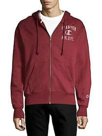 Champion Heritage Fleece Zip Hoodie BURGUNDY