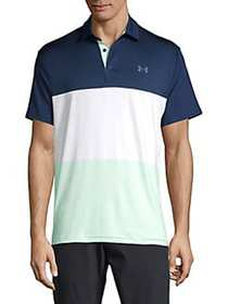 Under Armour Short-Sleeve Stretch Polo ACADEMY