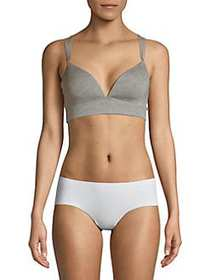Tommy Hilfiger Double-Strap Padded Bra GREY HEATHE