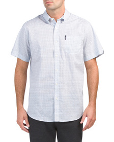 BEN SHERMAN Hand Drawn Linear Shirt