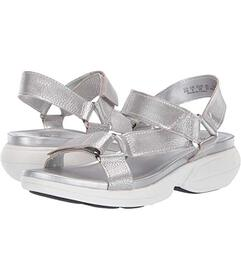 Naturalizer Silver Frost Metallic Tumbled Leather