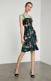 BCBG Strappy Floral Bodycon Dress