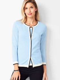 Talbots Charming Cardigan - Three-Quarter Sleeve -