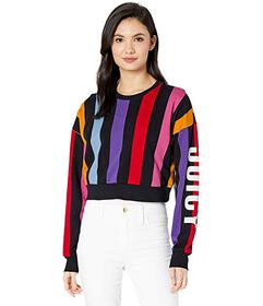 Juicy Couture Bold Vertical Stripe Terry Track Pul