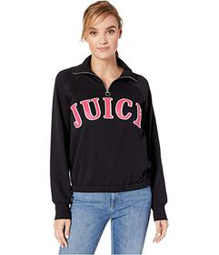 Juicy Couture Raglan 1\u002F2 Zip Fleece Pullover
