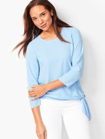 Talbots Side-Tie Blouse