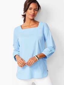 Talbots Square-Neck Poplin Tunic