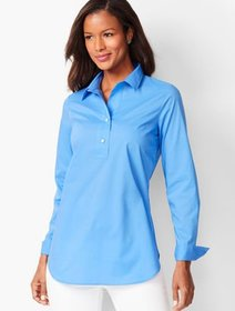 Talbots Cotton Poplin Tunic - Solid