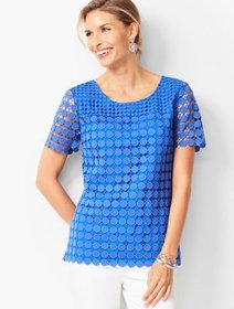 Talbots Circle Lace Top