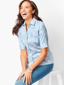 Talbots Perfect Shirt - Elbow-Length Sleeves - Pai
