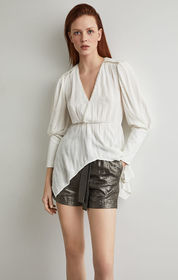 BCBG Faux Wrap Handkerchief Top