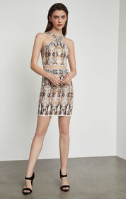 BCBG Snake Print Pencil Skirt