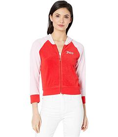 Juicy Couture Juicy Color Block Microterry Logo Ho
