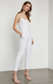 BCBG Strappy Pleated Jumpsuit