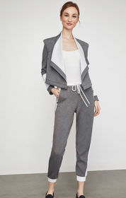 BCBG Two-Tone Cropped Jogger Pant