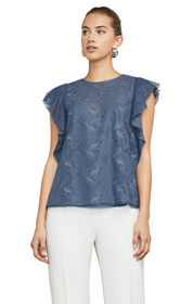 BCBG Cecilia Floral Embroidered Top