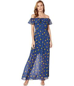 Betsey Johnson Marigold Buds Off the Shoulder Maxi