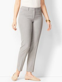 Talbots Talbots Hampshire Ankle Pants - Diamond Gr