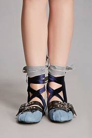 Forever21 Faux Leather Strappy Flats