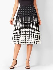 Talbots Geo-Print Pleated Full Skirt