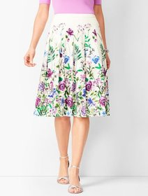 Talbots Pleated Garden Skirt
